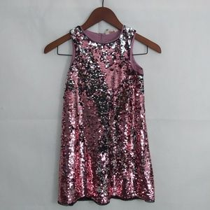 H&M Girls 7-8t Sequined sleeveless Pink dress